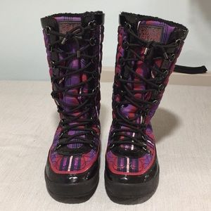 Coach Winter Boots - Mid length Plaid